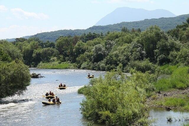 尻別川のラフティング