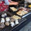 炭焼きのサザエ、牡蠣など