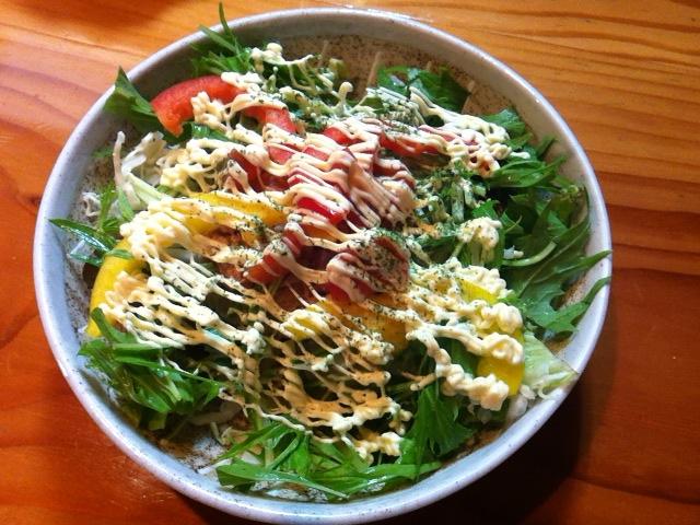 和風 水菜のサラダ