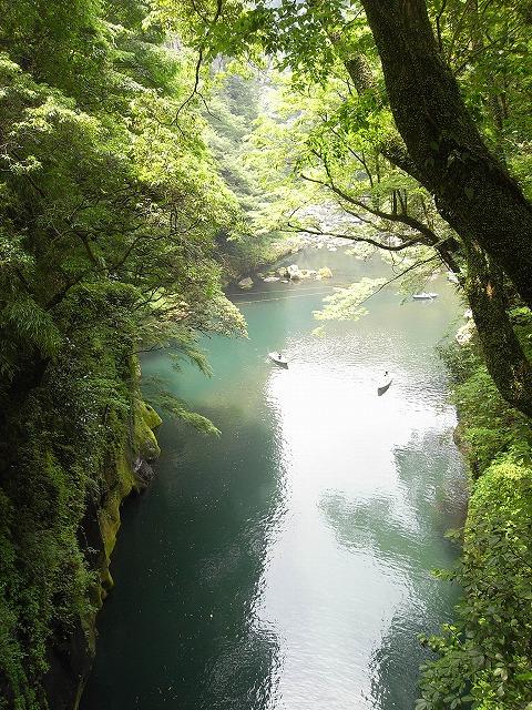高千穂峡 橋の上から見た風景