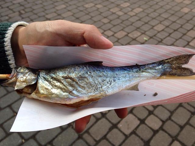 古平町:ヒメ鱒のいろり焼き