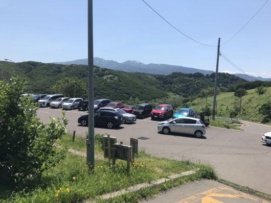 積丹岬の駐車場