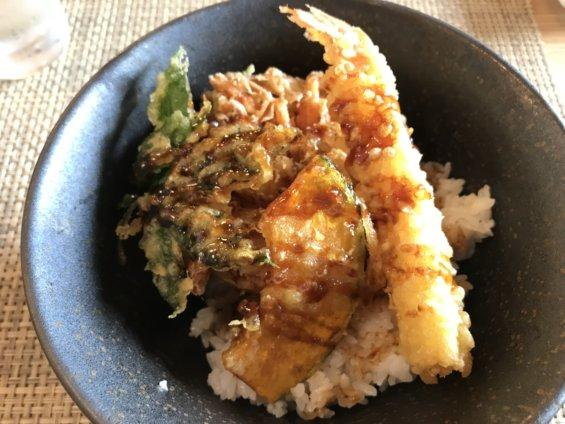 天丼(スープ付き)