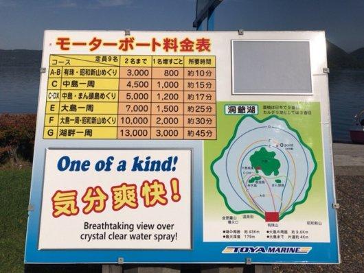 モータボート料金表