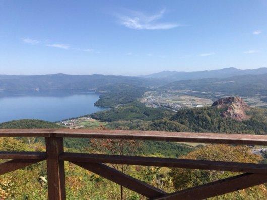 有珠山からの景色